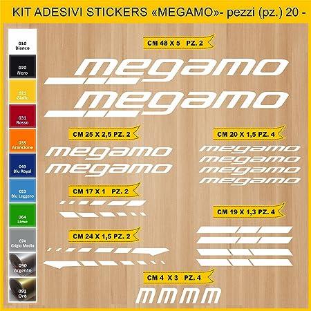 Kit Pegatinas Stickers Bicicleta MEGAMO -20 Piezas- Bike Cycle Cod ...