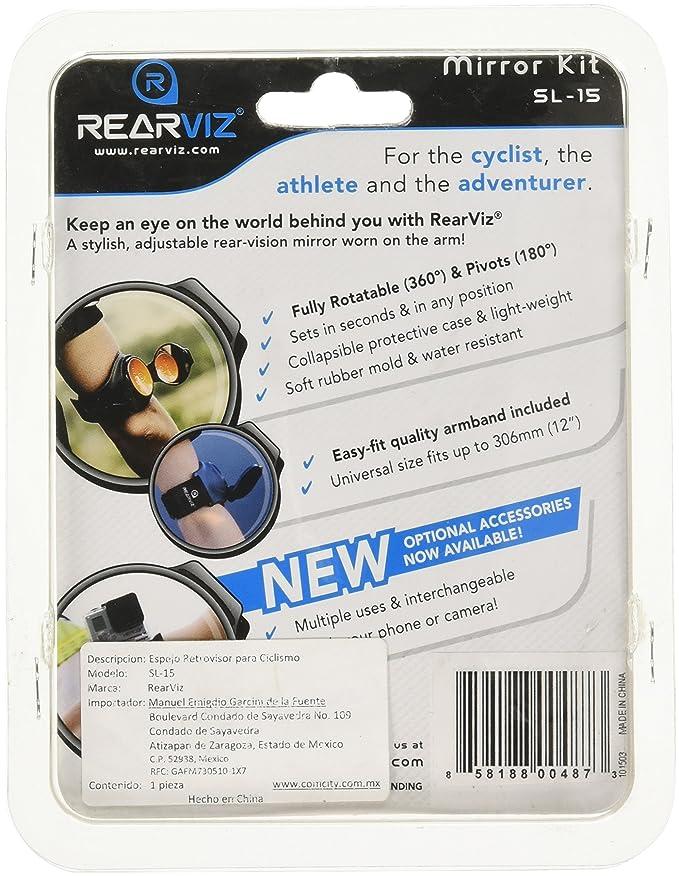 RearViz Slim Line SL-15 Recumbent Bicycle Arm Mirror for Cyclists