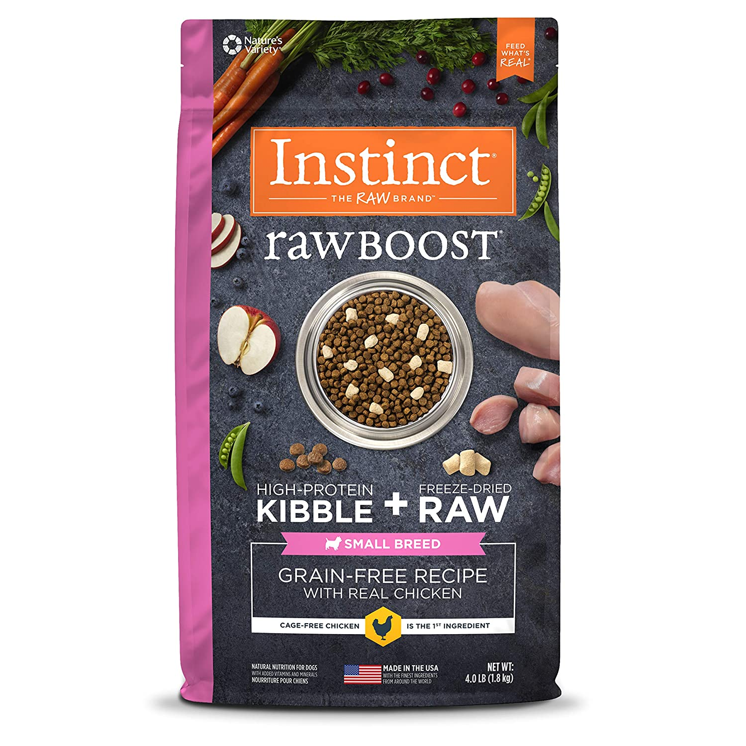 3.Instinct Raw Boost Small Breed Grain-Free Natural Dry Dog Food