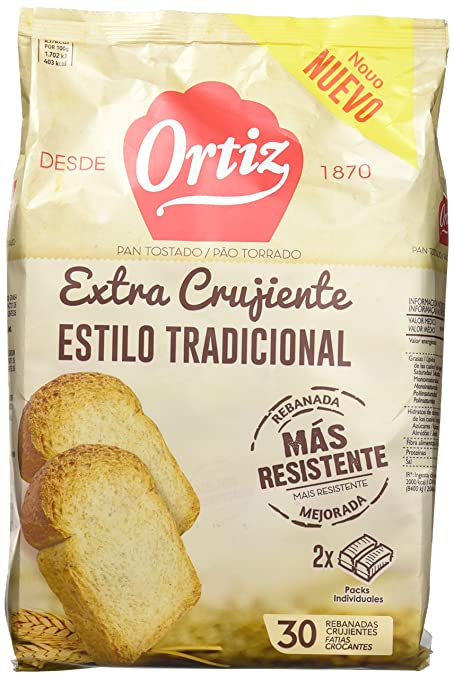 Ortiz Pan Tostado Tradicional - 324 g