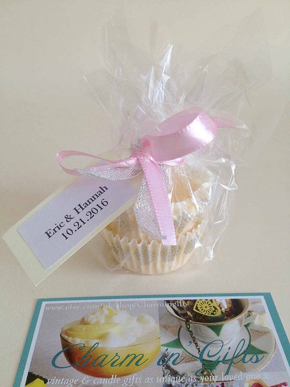 Amazon.com: 30 Wedding favours, Wedding party gifts, Candle favours ...