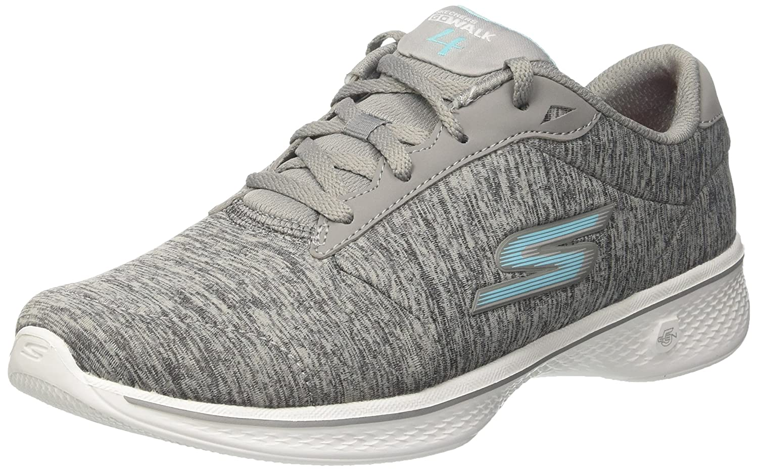 Skechers Performance Women's Go Walk 4 Lace-up Walking Shoe B01LE1J0HC 8 C/D US|Gray Blue
