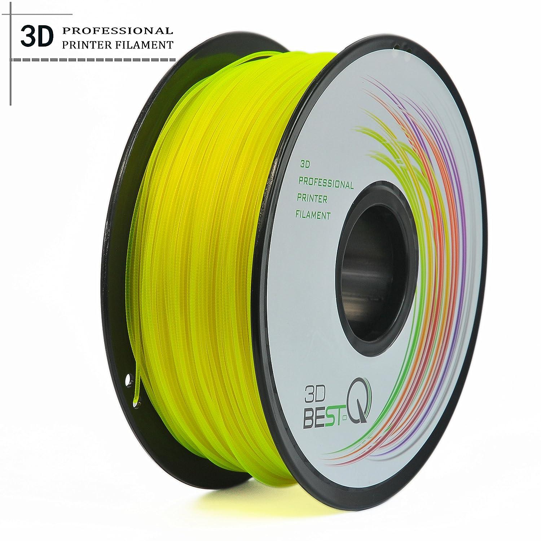 Dimensional Accuracy +//- 0.03 mm 1KG Spool LTD 3D Best-Q PETG 1.75mm 3D Printer Filament Transparent Yellow Foshan QIBAIXI trade Co