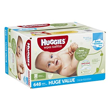 Huggies Natural Care Baby Wipes, Refill, 648 Count