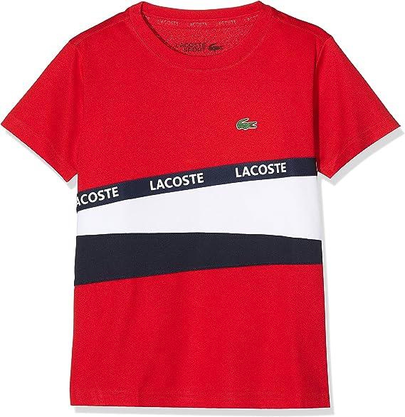 Lacoste Sport Tj9464 Camiseta, Rojo (Rouge/Blanc/Marine Yy2), 16 años (Talla del Fabricante: 16A) para Niños: Amazon.es: Ropa y accesorios