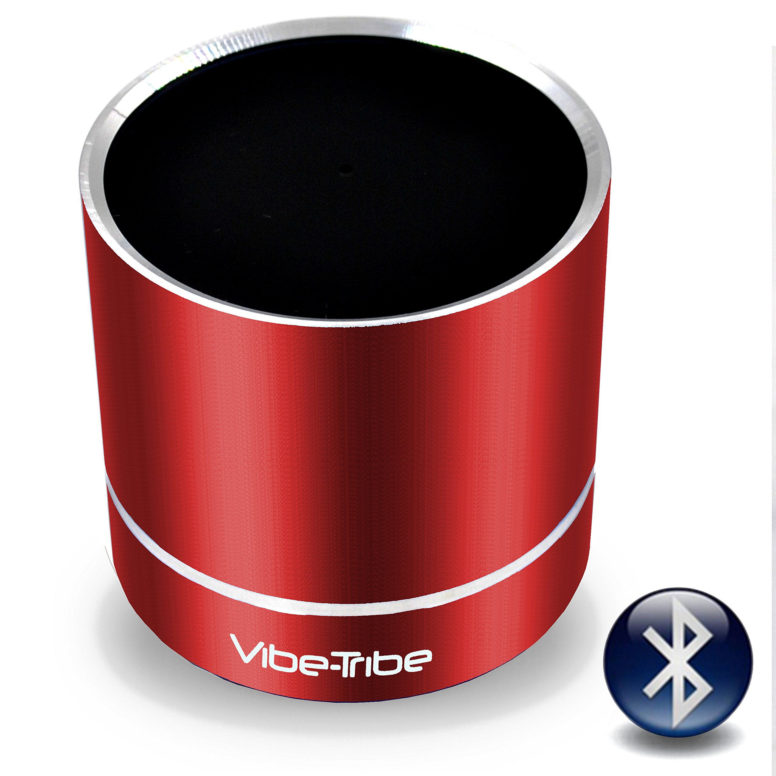 Vibe-Tribe Troll Plus Ruby Red: 12 Watt Bluetooth Vibration Speaker with Hands Free