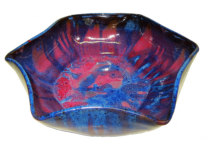 David Changar Celestial Hand Thrown Stoneware Bowl, Small, Blue Flambé Blue Flambé Celestial Bowl Sm