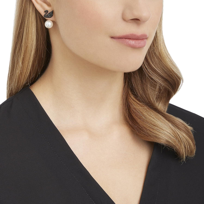 0618cf4ff Amazon.com: Swarovski Iconic Swan Earrings - 5193949: Jewelry