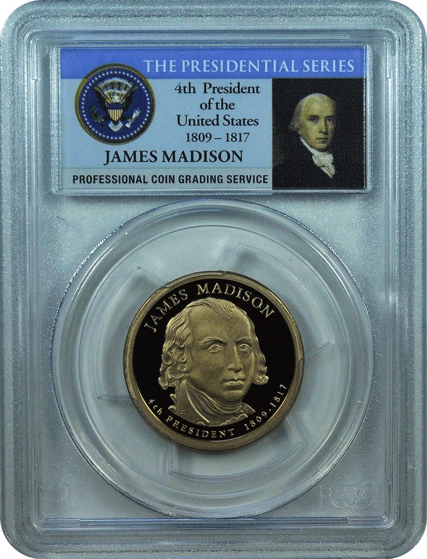 2007-S PCGS PR70DCAM James Madison Presidential Dollar