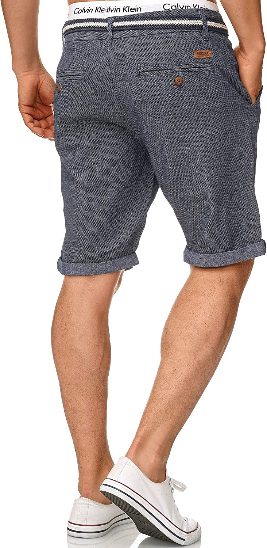 Indicode Uomo Cuba Pantaloncini Chino con 5 Tasche incl Cintura 100/% Cotone Corto Pantalone Regular Fit Bermuda Pantalone Estivo per Uomo Men Pants Chino