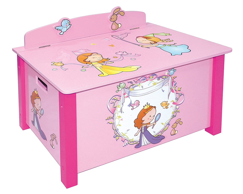 LibertyHouseToys Princess Spielzeug Box, Holz, mehrfarbig, groß