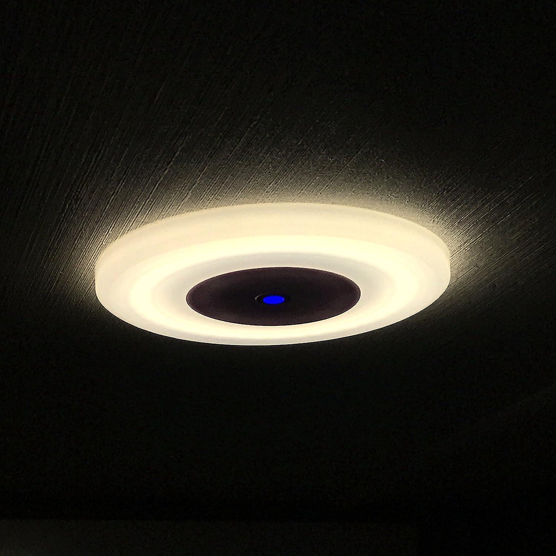 LIGHTEU, 12 V 7 W (12 x 12 x 1 cm) Zwei Farbe (warmes Weiß / Blau ...