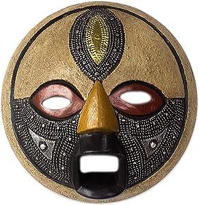 NOVICA Third Eye African Wood Mask