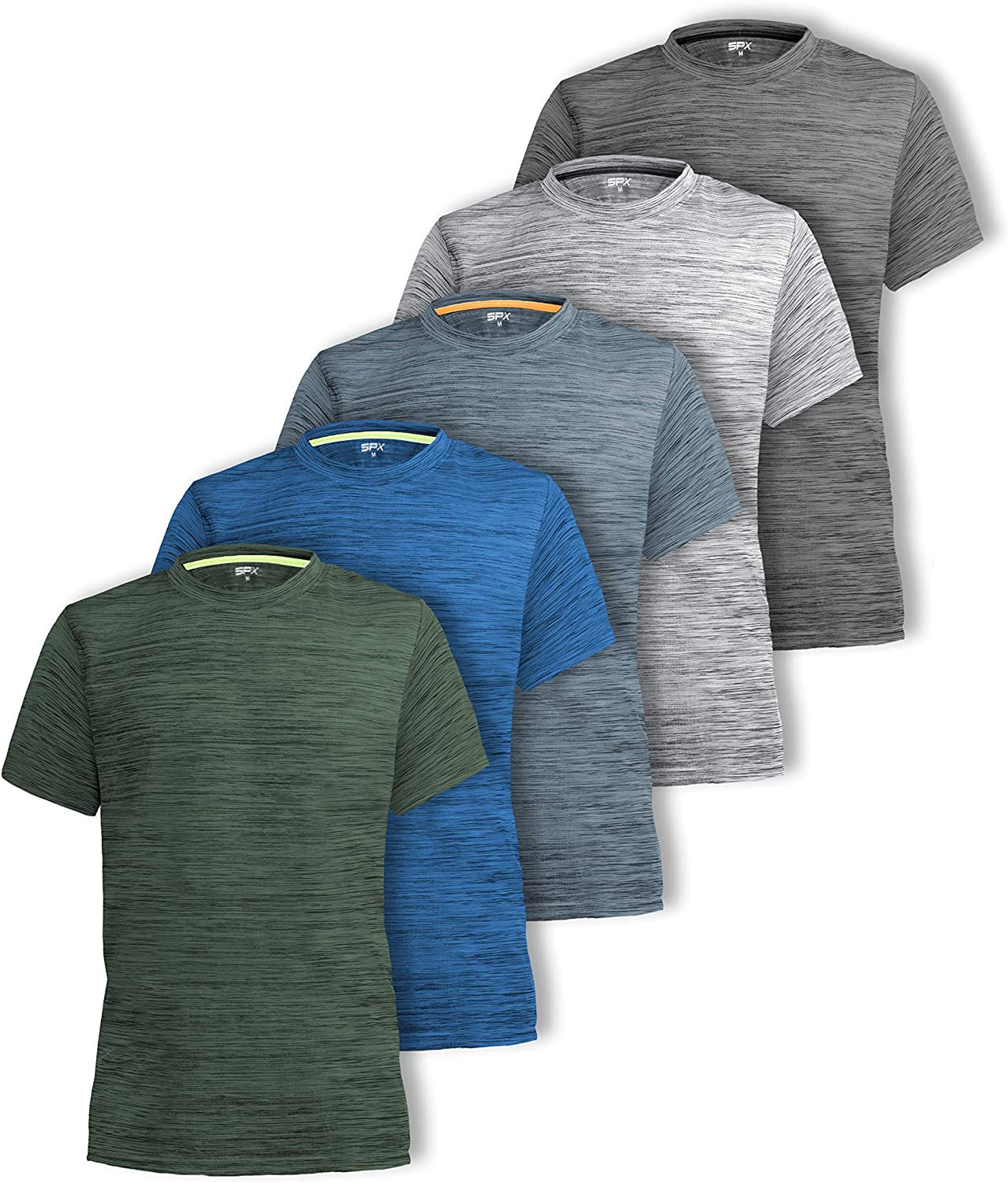 CR Mens Dry Fit Workout Running Athletic Shirts