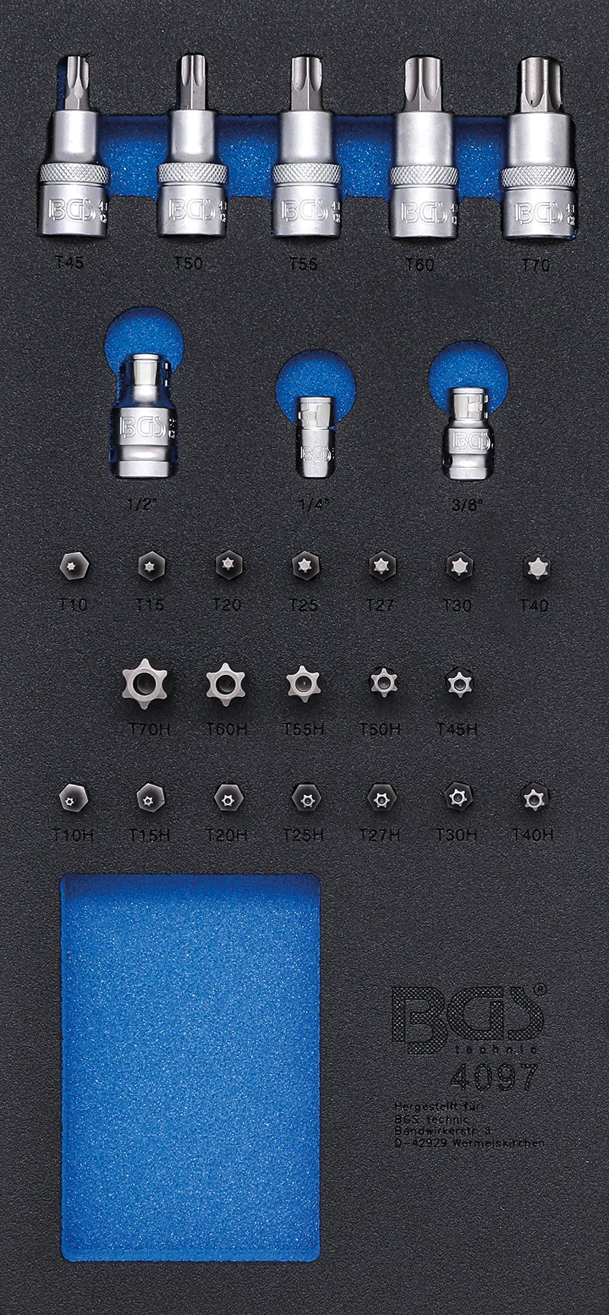 BGS Workshop Trolley 1/3Insert Bit and Screwdriver Bit Set, 27-Piece 4097 by BGS