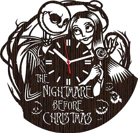 Amazon.com: La pesadilla antes de Navidad Jack y Sally reloj ...