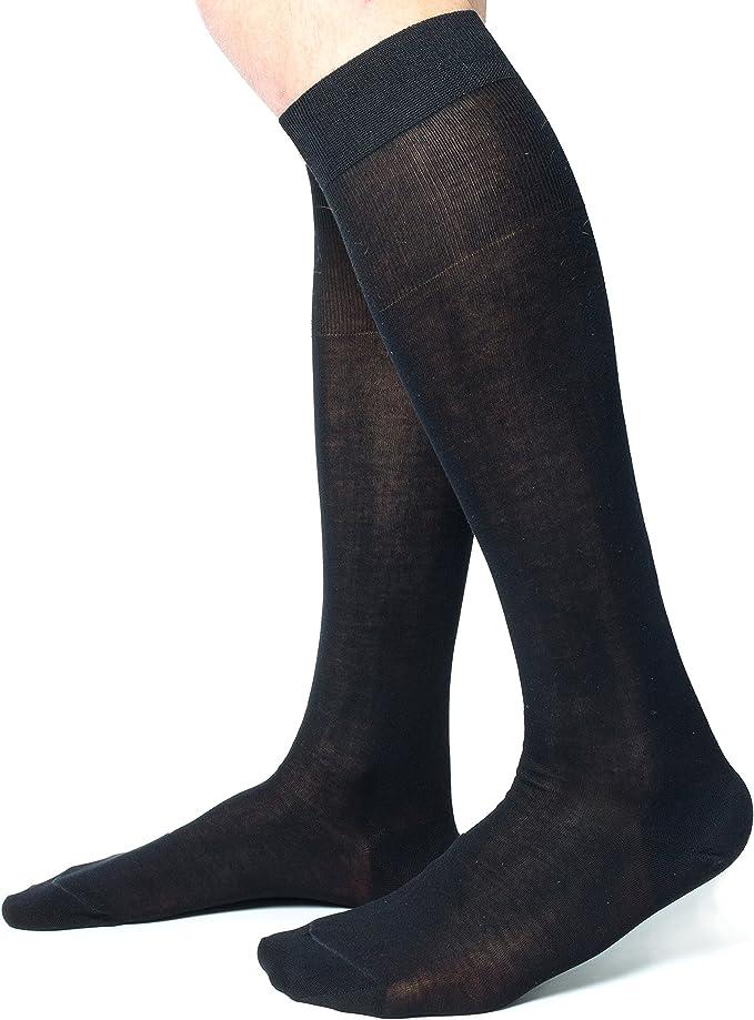 Ciocca Calcetines Hasta la rodilla hombre, 100% algodón ...