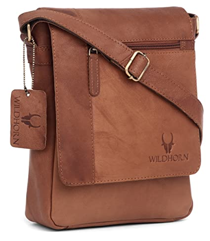 4be3f98a30 WildHorn Leather Brown 26.67 cms WomensSoftsided Check-in Luggage (MB205  TAN Vintage)  Amazon.in  Bags