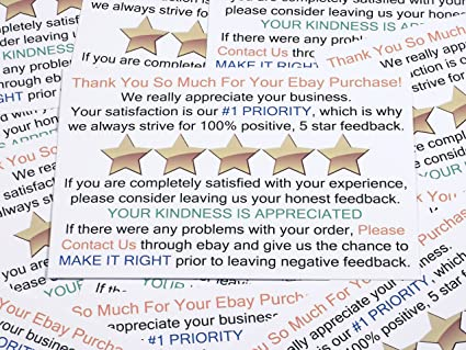 amazoncom thank you for your purchase and feedback request package insert cards for ebay business sellers add these smart shipping supplies to your