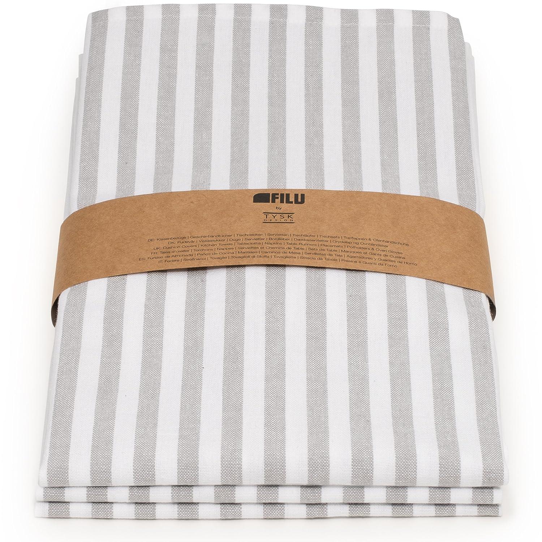 Paños de cocina Filu, Grau / Weiß (Streifen), Halbleinen / 3er Pack: Amazon.es: Hogar