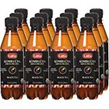 Latta Kombucha, Original, Raw and Organic, only 2 gm of sugar, Promotes Healthy Weight Loss, Packed with Probiotics, Certified Kosher, All-Natural and Gluten Free, Pack of 12, 8 oz Bottles
