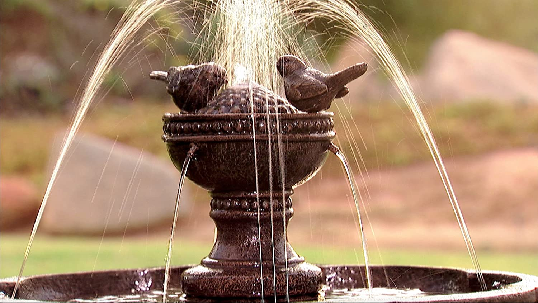 Dancing Waters Cordless Garden Fountain Bronze