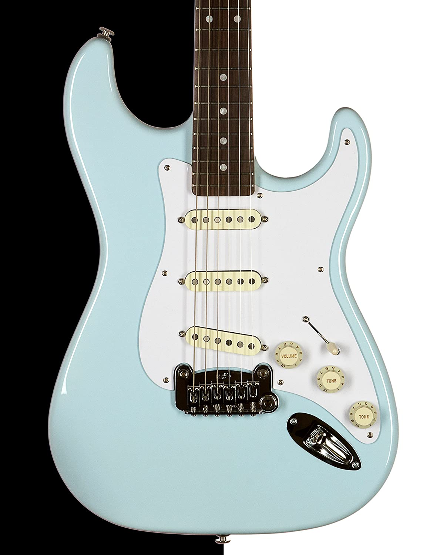 Legado guitarra eléctrica, Sonic azul, palisandro, emperatriz cuerpo: Amazon.es: Instrumentos musicales