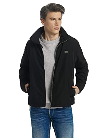 f46e8d90 Lacoste Mens BH6121 031 Windbreaker Jacket in Black (Small): Amazon ...
