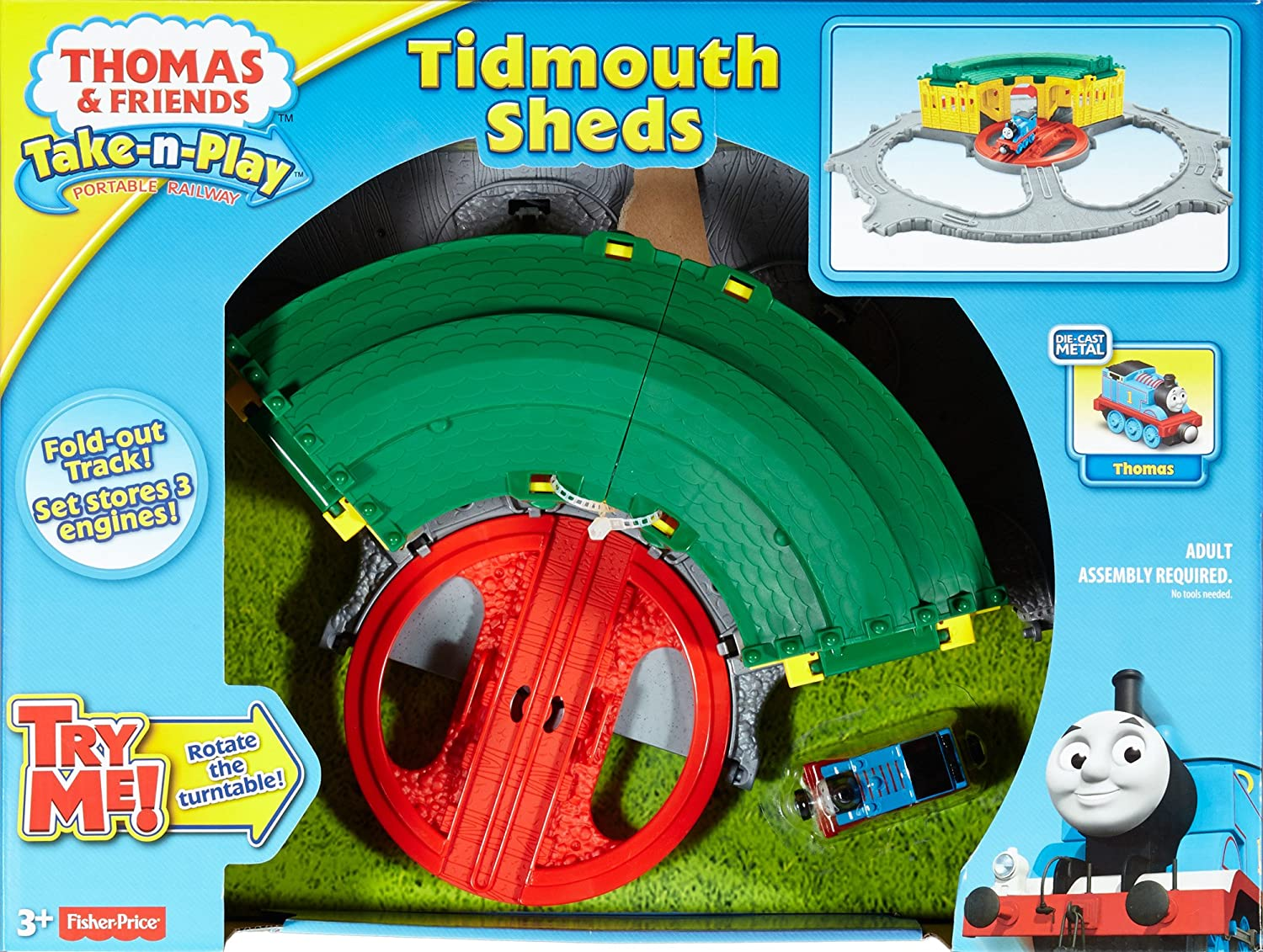 Thomas /& Friends Adventures Take N Play Tidmouth Sheds Train Engine Playset Toy