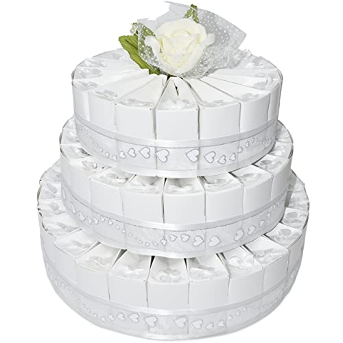 3 tier white wedding favor bags cake kit includes 66 favor candy boxes party crafts supplies