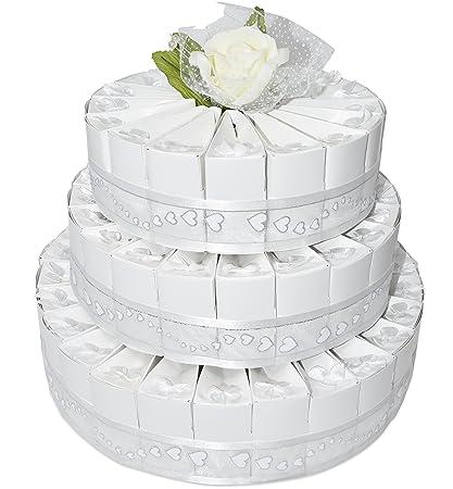 Amazon 3 Tier White Wedding Favor Bags Cake Kit Includes 66