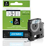 DYMO Standard D1 43610 Labeling Tape ( Black Print on Clear Tape , 1/4'' W x 23' L , 1 Cartridge)