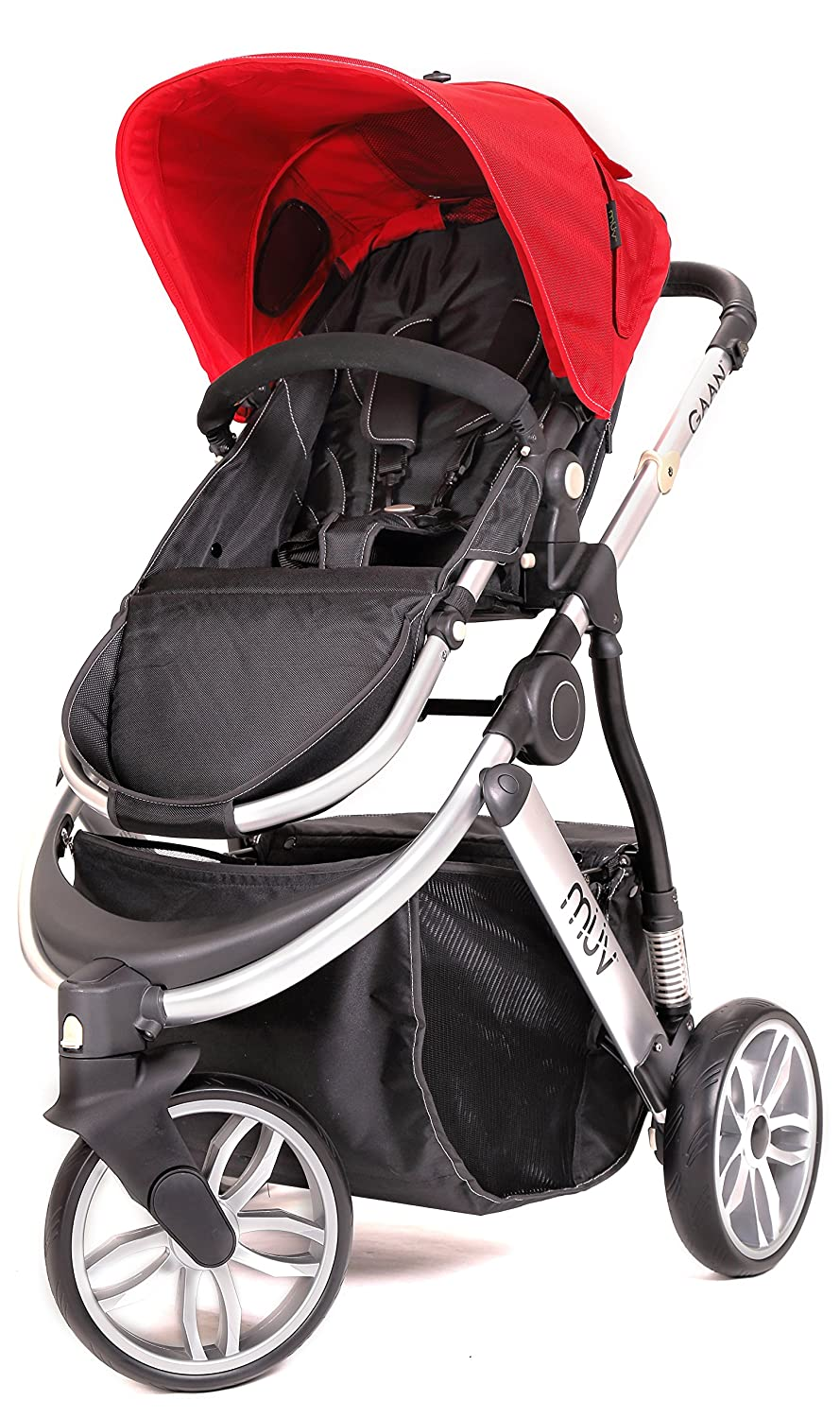 Muv Baby Trend Gaan Stroller, Satin Black/Cabernet MS990107