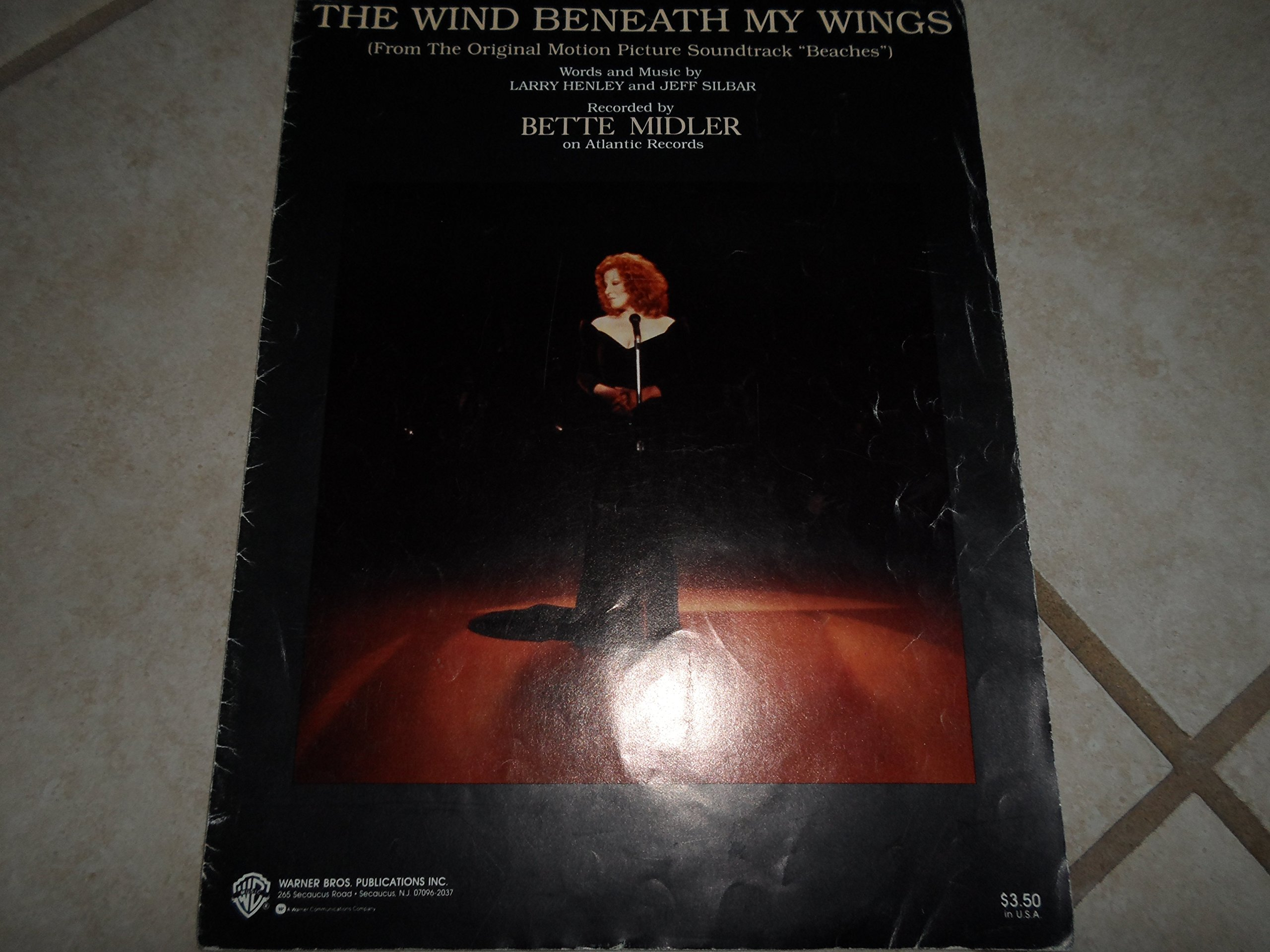 the wind beneath my wings sheet music bette midler cover
