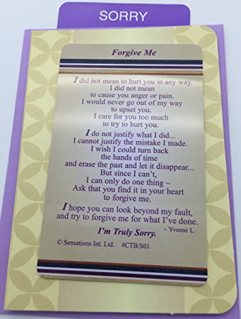 Amazon.com: Forgive Me – Cartera/Monedero tarjeta de ...