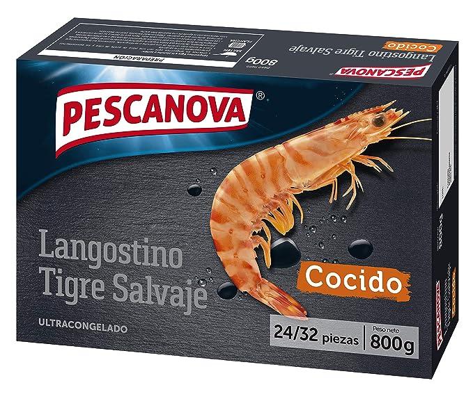 Pescanova - Langostino Tigre Cocido - 800 gr: Amazon.es ...