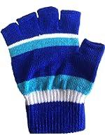 日本製 カラー指切り手袋 1双(指無しタイプ手袋) マジック手袋