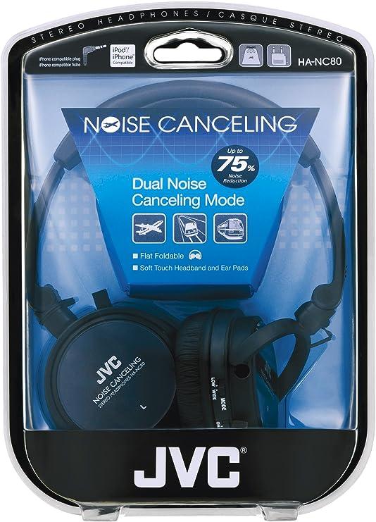 Amazoncom Jvc Hanc80 Noise Cancelling Headphones Black Home