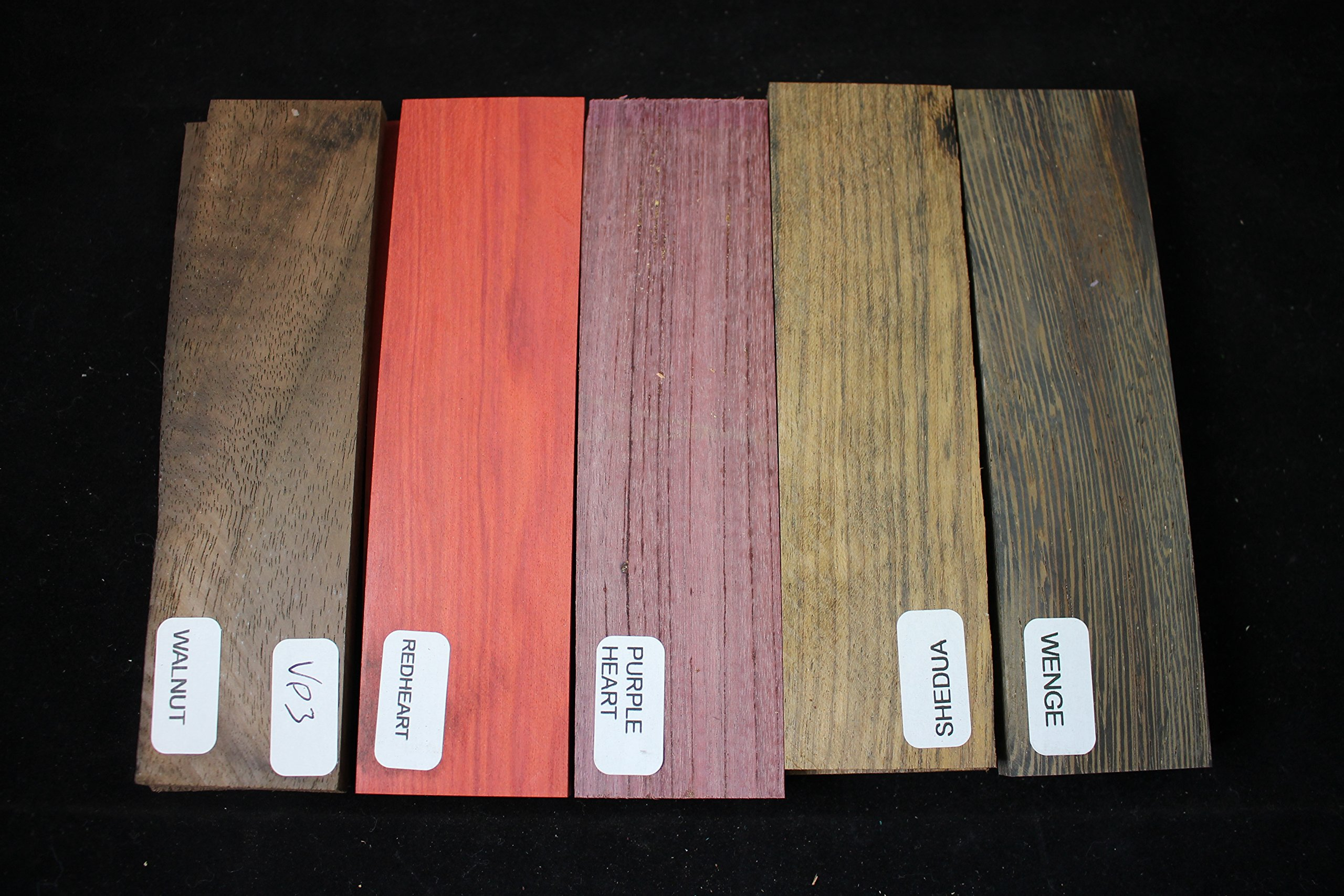 Payne Bros Custom Knives Variety Pack of 5 Wood Scales, 5 INCH, for Knife Making - Gun grps - Craft Supplies (VP13)