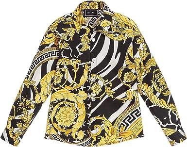 Versace Joven Camisa de impresión barroca Multi Coloured 10 ...