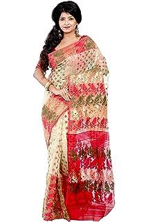 RLB Fashion Women's Cotton Silk Handloom Dhakai Jamdani