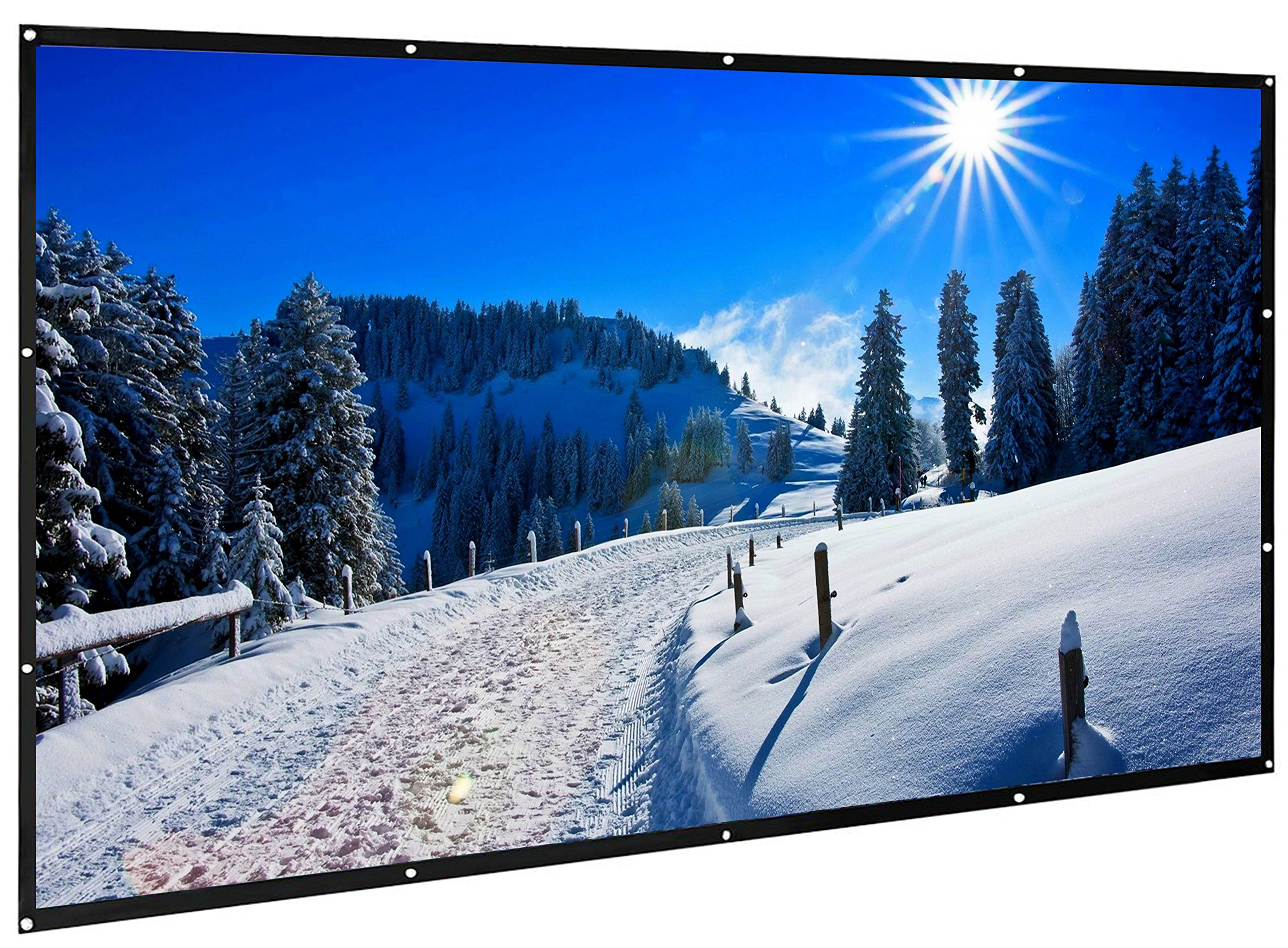 120 inch Projection Screen 16:9 HD Portable Projection Display Movie Screen DJ Screen Foldable Anti-Crease Portable Projector Movies Screen Outdoor Camping Theater, Version