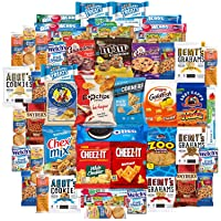 Deals on Cookies Chips & Candy Snacks Assortment Bulk Sampler 50 Count