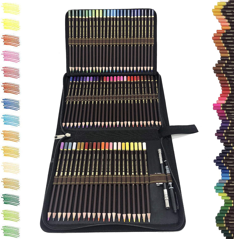 XL Colored Pencil Set W// 72 Soft Core Coloring Pencils 30 Pages Sketch Pad
