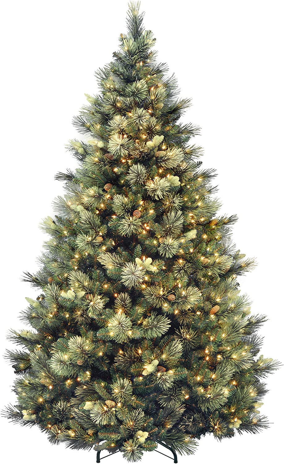 National Tree Company 7.5 Ft Carolina Pine Pre-lit Artificial Christmas Tree