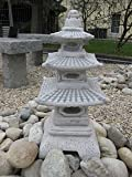 Top Model Massive Pagoda di pietra giapponese lanterna fatta del cast in pietra frostfest