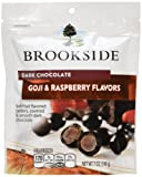 Brookside Dark Chocolate Covered Goji and Raspberry Flavors Candy, 198g