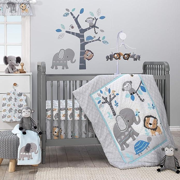 Bedtime Originals Nursery Crib Bedding Set - Jungle Fun 3pc