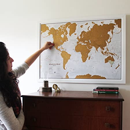 Scratch the world scratch off places you travel map print scratch the world scratch off places you travel map print detailed cartography 3311 x 2339 inches amazon office products gumiabroncs Images