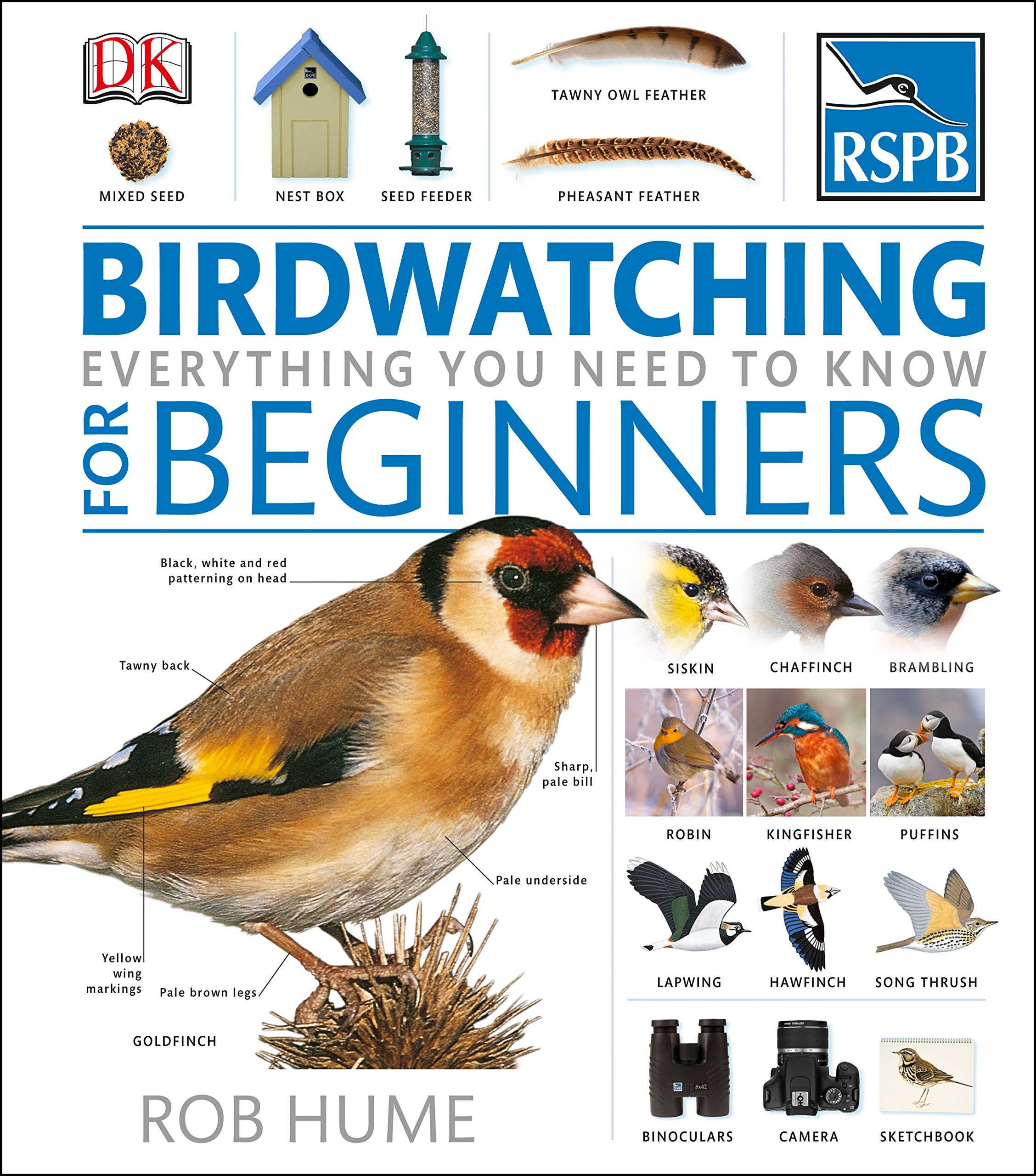 RSPB Birdwatching For Beginners Amazoncouk Rob Hume 9781409364498 Books